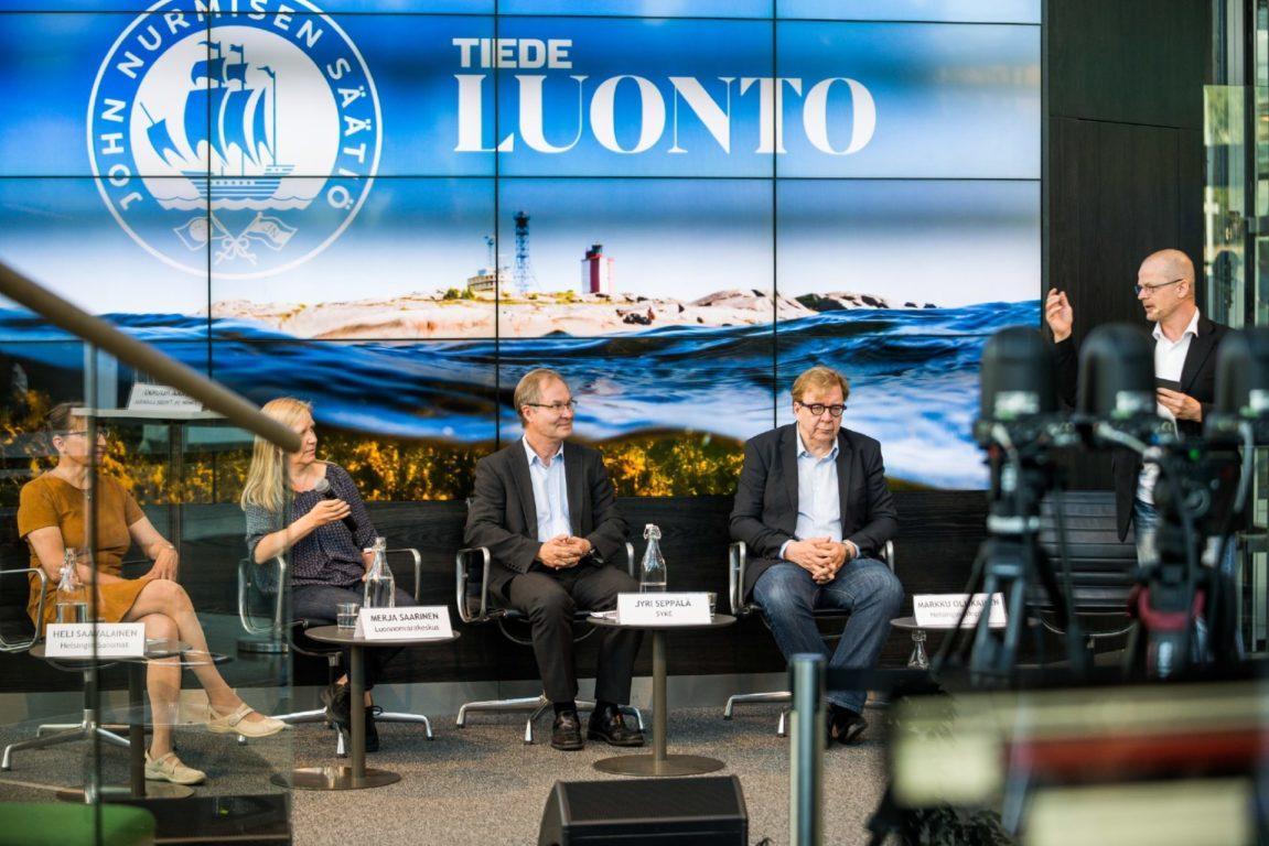 Itämeri-asiantuntijoiden paneelissa pohdittiin kysymystä: Minkä jäljen me jätämme mereen? Kuva: Ilkka Vuorinen